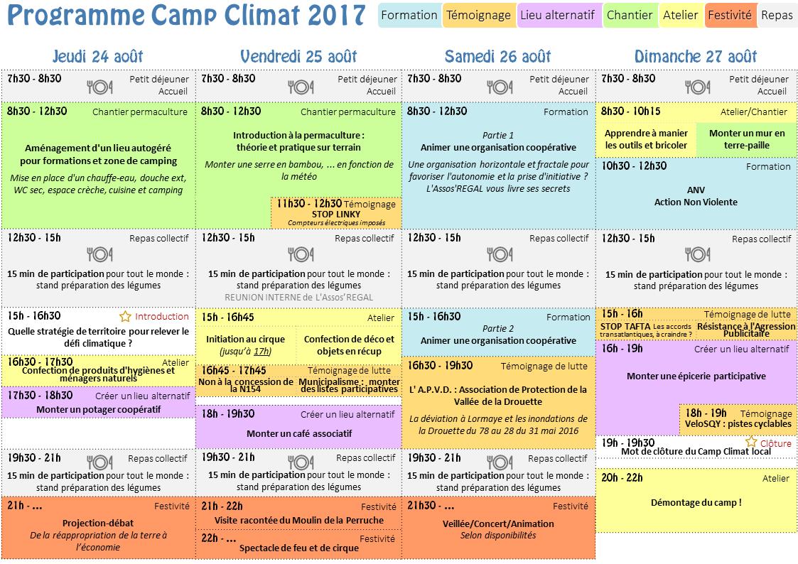 Le programme du Camp Climat Local 2017 est sorti !