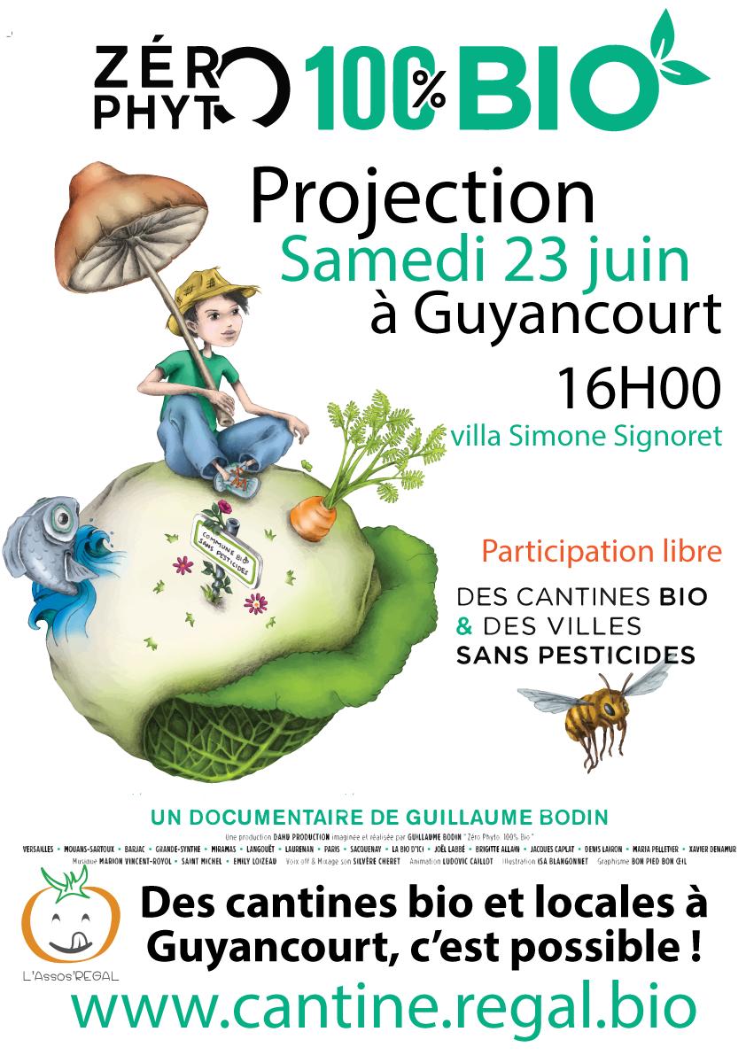 "Samedi 23 juin : Projection ""0 phyto 100% bio"" à Guyancourt"