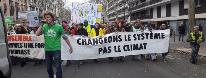 Retour sur image – Marche pour le climat du 8 décembre